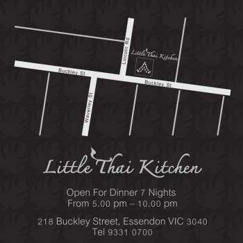 little thai kitchen, 218 buckley street, essendon, 3040